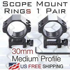 Rifle Scope Mount 1 Pair Picatinny/Weaver 30mm ring - Medium Profile CNC T6