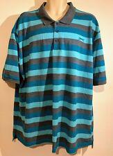 Slazenger Men's T-Shirt Short Sleeve Big&Tall 4XL XXXXL Striped - Blue Mix