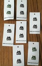 Vintage JHB  Sewing Buttons  - 7 Cards Green & Black Ptd Country Houses Germany