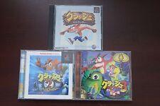 PlayStation PS1 Crash Bandicoot 1 2 3 Japan game US Seller
