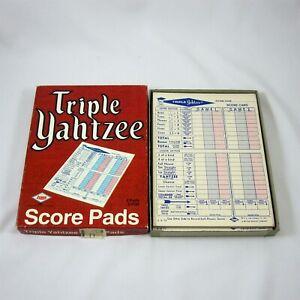 Triple Yahtzee Dice Game Score Pads Vintage 1973 in Original Box