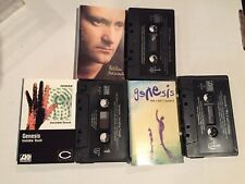 80s 3 Cassette Tape Lot - Genesis Phil Collins - But Seriously & We Can't Dance