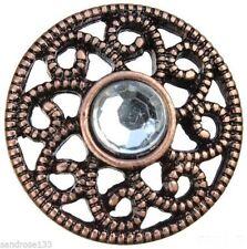 Markenlose Modeschmuckstücke aus Kupfer mit Strass-Hauptstein für Damen