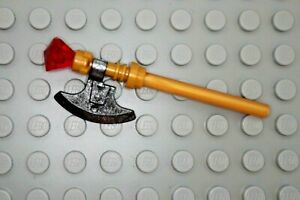 Lego Chima Pearl Gold Ruby Trans Red gem HAKRAXX WEAPON Minifig Weapon