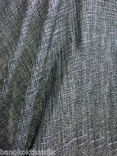"""Black Silver Faux Burlap Linen 60""""W Vintage Fabric BTY Tablecloth Craft Bags"""