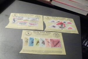 Lundy Islans 3 sets hinged on info sheets