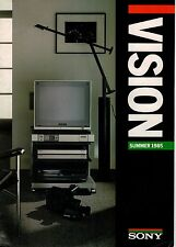 Sony Vision Beta Video & Hi Fi Camcorder TV Betamovie Brochure 1985 3345F
