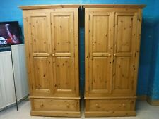 ONE DOVETAILED CHUNKY SOLID WOOD 2DOOR 1DRAWER WARDROBE H192 W99cm -more listed