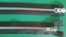 YKK Reißverschluss Alu-Metall teilbar 6mm 2 Wege , Farbe und Länge auswählen