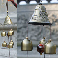 Wind Chimes Bells Copper 6x Bells Outdoor Garden Home Living Decor Ornament Gift