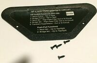 Black Genuine USA Gibson SG High Performance Control Plate, Back Cover, HP-2