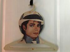 """Michael Jackson Vintage Plastic Clothes Hanger Collectible Souvenir 18"""" wide"""