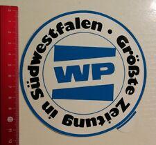 Aufkleber/Sticker: Größte Zeitung in Südwestfalen WP (250317157)