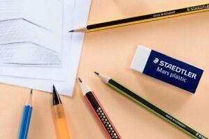 Staedtler Noris HB Pencils Office School Stationary 2B B H 2H Sharpener Rubber