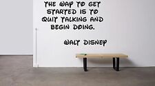 Vinyl Wall Decal Sticker Room Decor Custom Quotes Motivational Walt Disney F1501