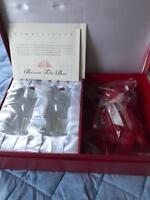 Steiff x Baccarat Millennium 2000 Year Limited Baccarat Glass & Teddy Bear set