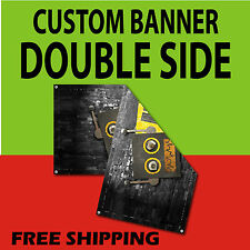 2 x 6 DOUBLE SIDED PRINT 15 oz FULL COLOR CUSTOM BANNER***FREE SHIPPING****