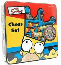 The Simpsons Official Chess Set Game 1998 Collector's Tin