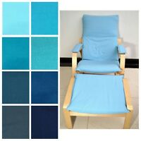 NEW (EASY FIT Slip cover)NO ZIPPER-Tailor Made For IKEA Poang Arm Chair Aa1