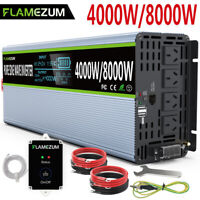 Large Shell 4000W/8000W Power Inverter 24V To 240V Pure Sine Wave Truck Caravan
