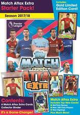 Match Attax Extra 2017 2018 EPL Premier League Starter Pack Album Gold Card