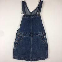 Free People Overall Jumper Dress Denim Skirt  Blue Mini Womens Size W 27