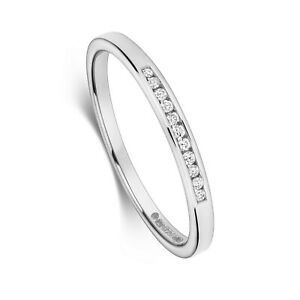 White Gold Diamond Eternity Band Channel Set Wedding Band Size H-Z Certificate