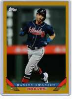 Dansby Swanson 2019 Topps Archives 5x7 Gold #241 /10 Braves