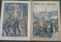 1903 DOMENICA DEL CORRIERE: MUGIK RUSSI A PIETROBURGO; MINIERA DI MONTECHINO