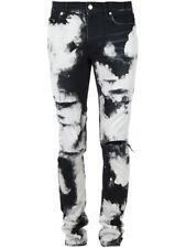 Saint Laurent White Tie-dye Skinny Jeans