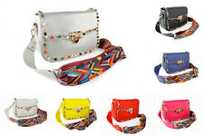 Womens Shoulder Bag Multicolour Gem Studded With Aztec Style Strap Mini Handbag