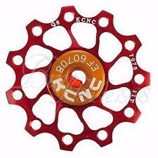 Nuevo Kcnc Jockey Rueda Polea Ultra Light 11t Shimano Campagnolo Sram Bicicleta Rojo