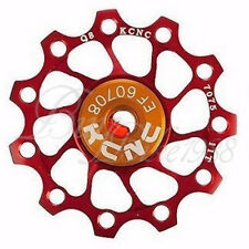 NEW KCNC Jockey Wheel Pulley Ultra Light 11T Shimano Campagnolo SRAM BIKE RED