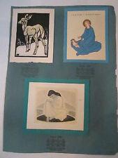 3 VINTAGE GREETING CARDS - NO. 10536 - NO. 10544 - NO. 10526 -  TUB Q