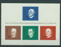 BRD Briefmarken 1968 Konrad Adenauer- Block  Mi.Nr.554-557**postfrisch