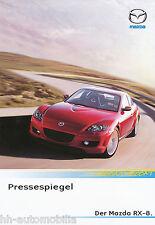 MAZDA rx-8 prospetto STAMPA SPECCHIO 2004 brochure auto prospetto AUTO LIBRETTO OPUSCOLO