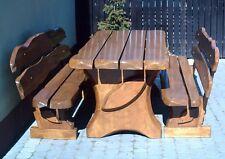 Sitzgruppe Gartenmöbel Massivholz Terrassenmöbel  Sitzgarnitur Erle/Buche
