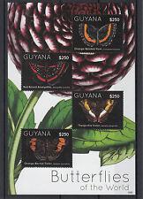 Guyane 2012 neuf sans charnière Papillons du monde 4V feuille I thesprotia soeur amarynthis