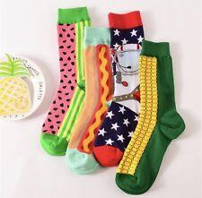 Fun Socks Hotdog and Watermelon Socks (Pack Of 2)