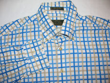 Orvis Signature Series Checkered Dress Shirt  100% Cotton  Button Down Mens L