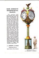 San Diego, CA   Jessop's Street Clock  @ 1910