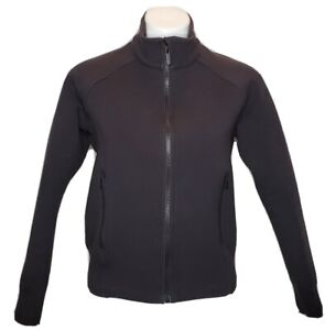 Lululemon NTS Black Jacket Coat Women's Size 10 Zip Sweatshirt Soft Cotton Blend