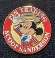 Disney HTF Scoop Sanderson Pin Trading Mickey Grail LE 750 Rare