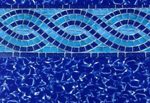 """GLI 24' Round Unibead AG Swimming Pool Liner   Willow Creek   52"""" Wall Height"""