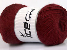 Lot of 4 x 100gr Skeins Ice Yarns NORSK FINE (45% Alpaca 25% Wool) Yarn Burgundy