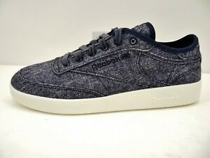 Reebok CLUB C Wool & Corn Shoes Unisex Sneaker Low Blau Chalk Wolle Gr.42