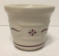 Longaberger Pottery Votive Candle Holder - Woven Traditions Traditional Red
