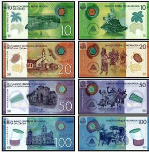 Nicaragua 2015 year 10+20+50+100 Cordobas BrandNew Banknotes set 4PCS