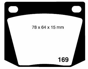 RDA GP MAX FRONT DISC BRAKE PADS for Holden HD & HR 2/1965-2/1968 RDB525
