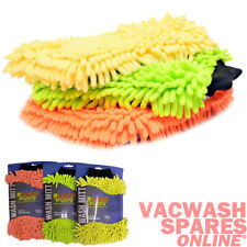 CAR CLEANING NOODLE WASH MITTS - CAR VALETING DETAIL MITT - NO SWIRLS - SET OF 3